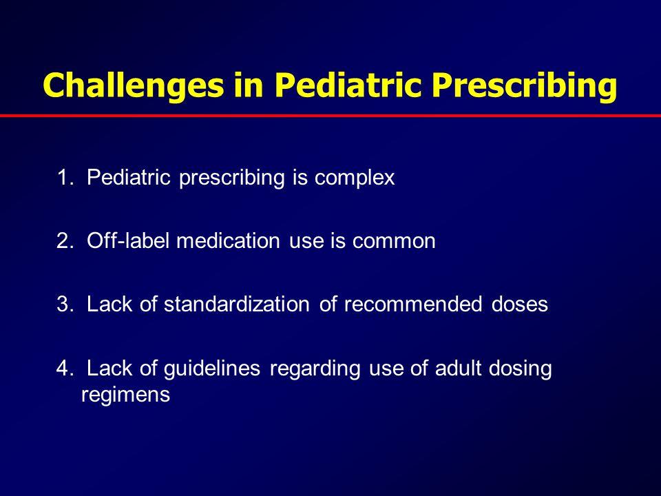 Challenges in Pediatric Prescribing 1. Pediatric prescribing is complex 2.
