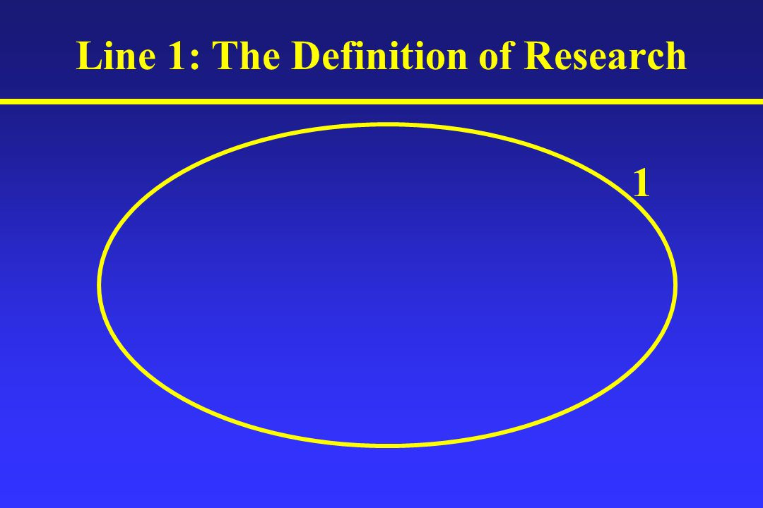 Line 1: The Definition of Research 1