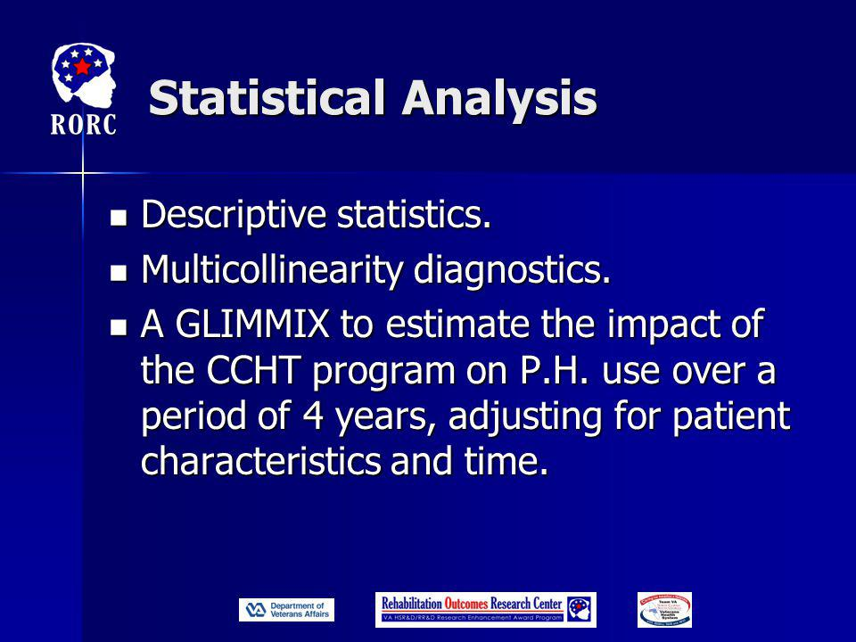 Statistical Analysis Descriptive statistics. Descriptive statistics.