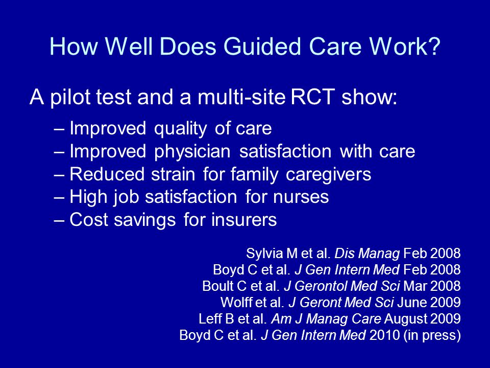 How Well Does Guided Care Work.