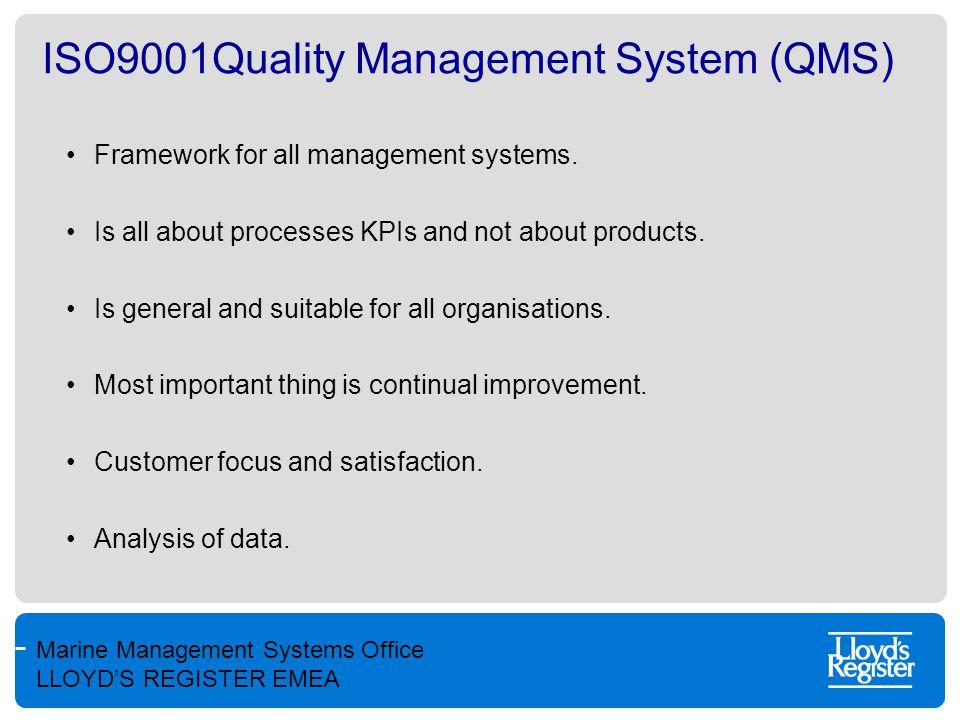 Marine Management Systems Office LLOYD'S REGISTER EMEA Environmental Management System ISO14000