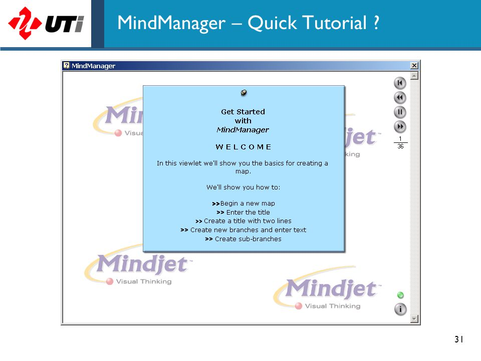 31 MindManager – Quick Tutorial ?
