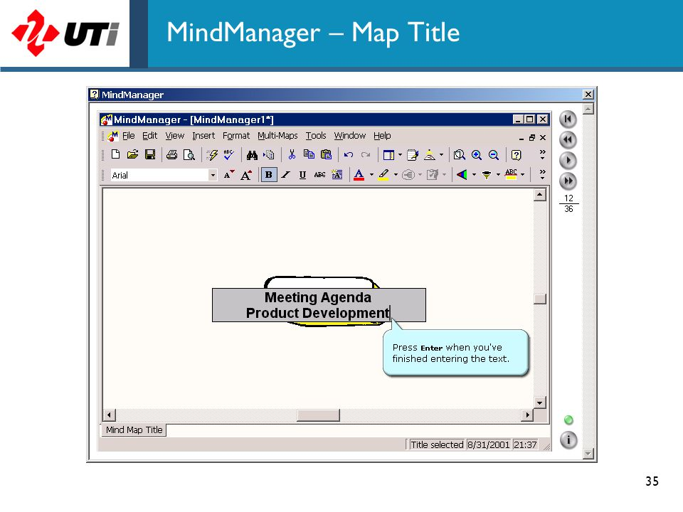 35 MindManager – Map Title
