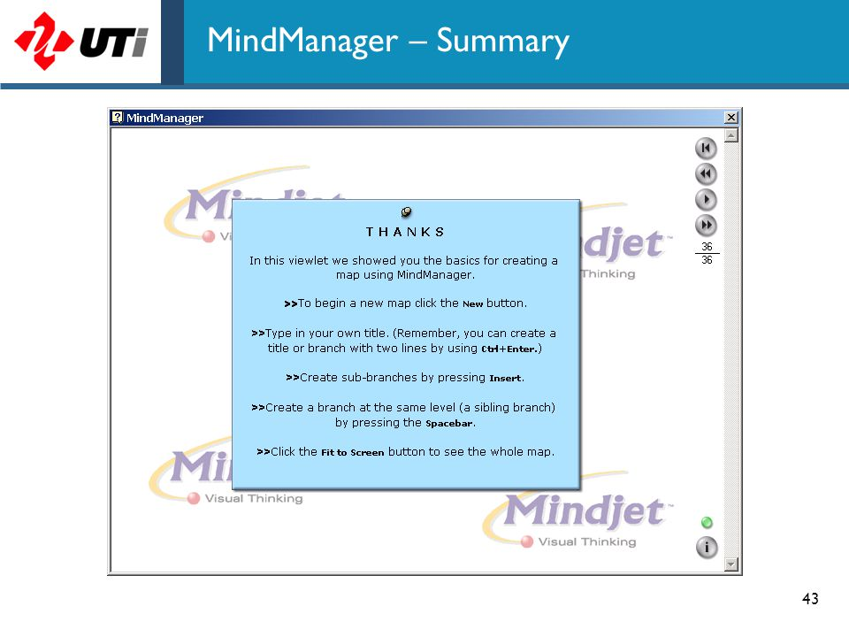 43 MindManager – Summary