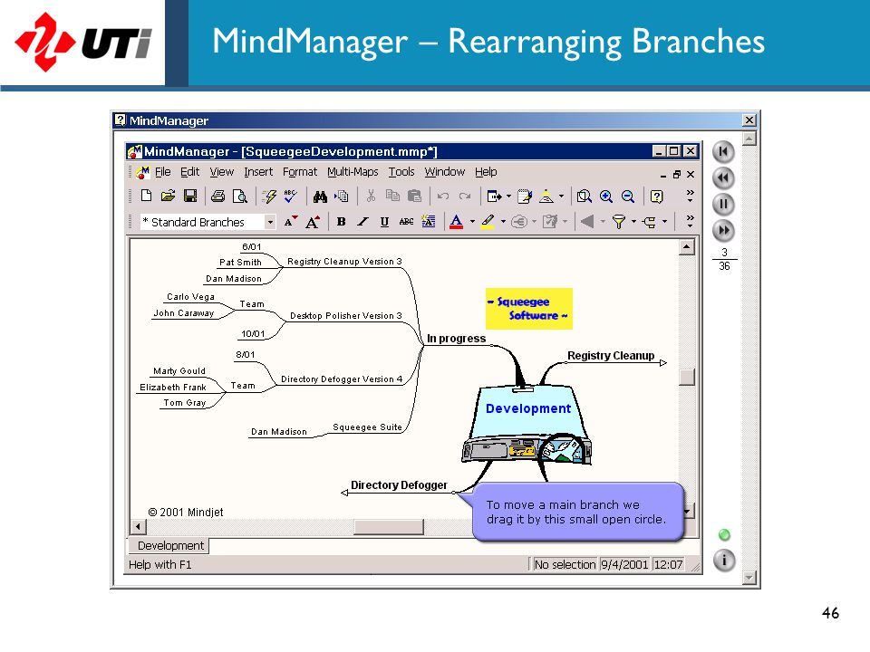 46 MindManager – Rearranging Branches