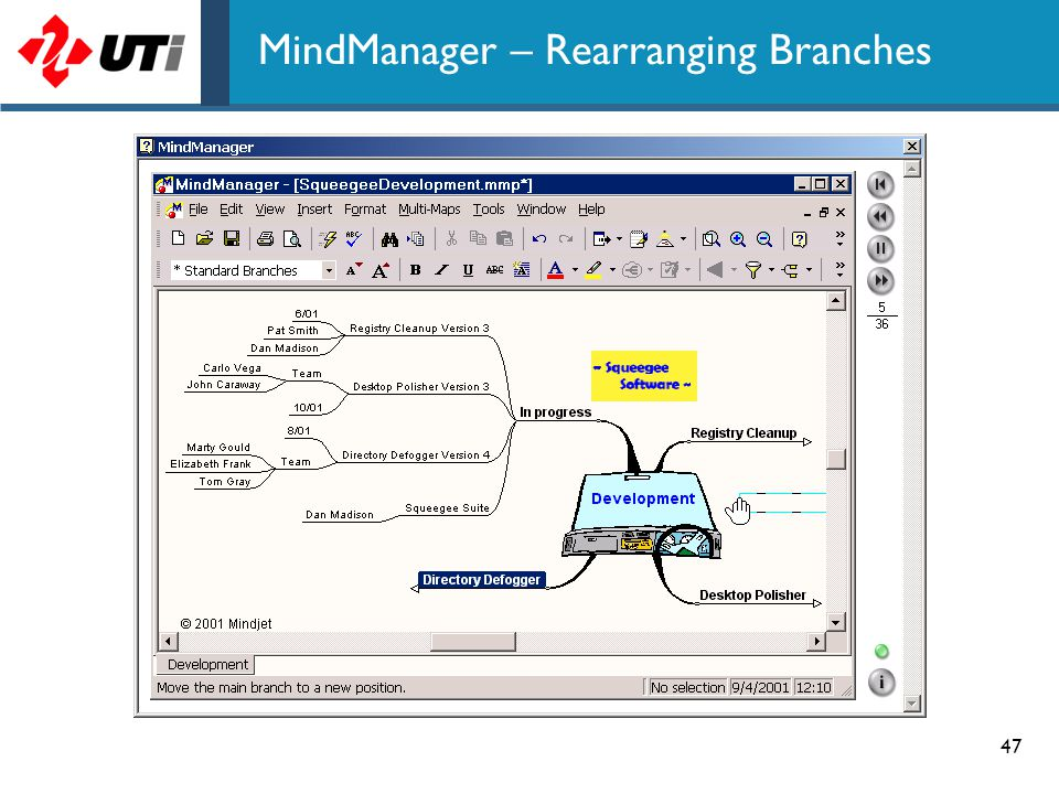 47 MindManager – Rearranging Branches