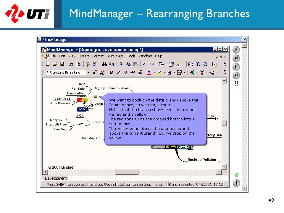 49 MindManager – Rearranging Branches