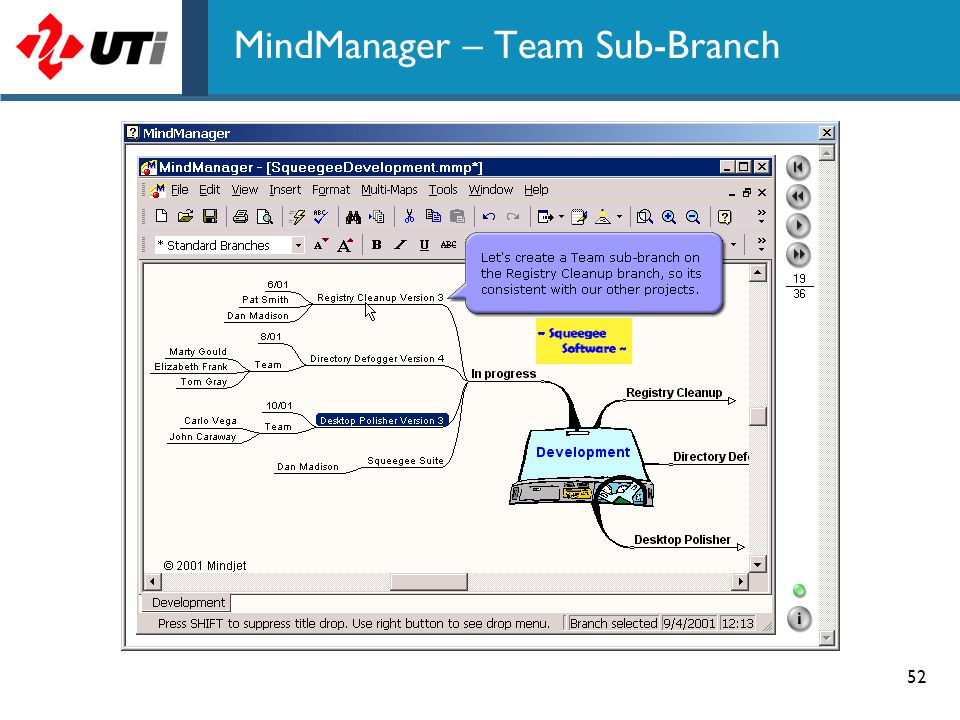52 MindManager – Team Sub-Branch