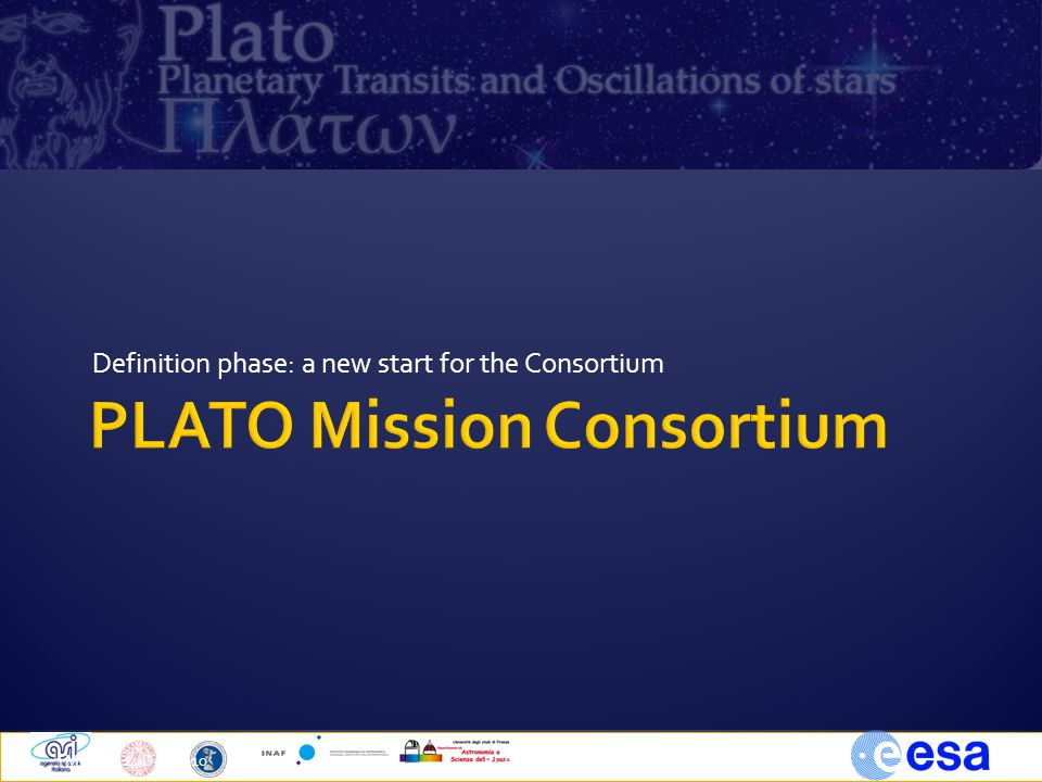 Definition phase: a new start for the Consortium Milano, 14 Dec 2010PLATO TOUs5