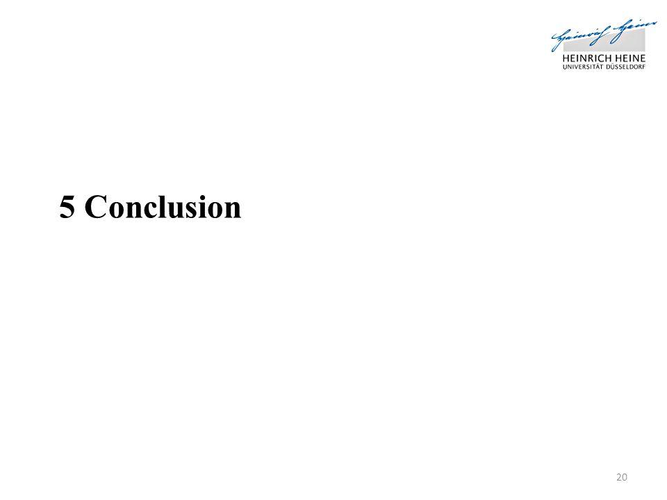 5 Conclusion 20