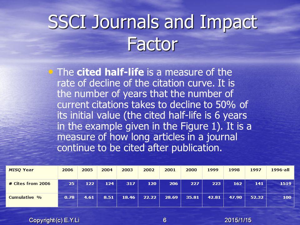 Copyright (c) E.Y.Li 572015/1/15 Limitations & Future Research Sample bias.