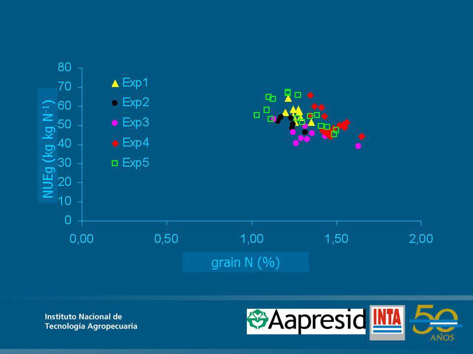 grain N (%) NUEg (kg kg N -1 )