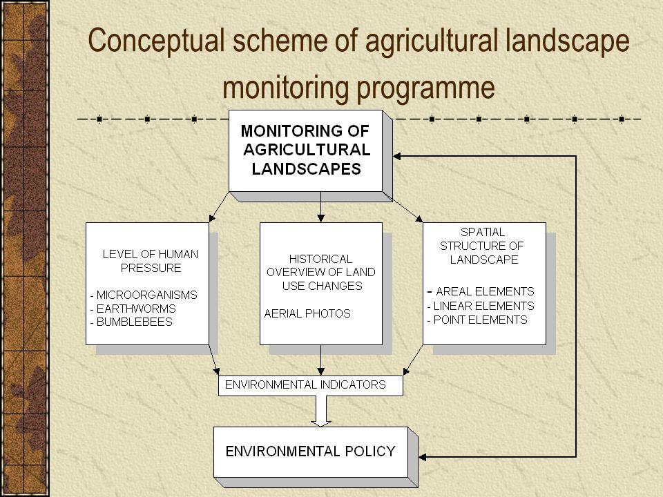 Conceptual scheme of agricultural landscape monitoring programme