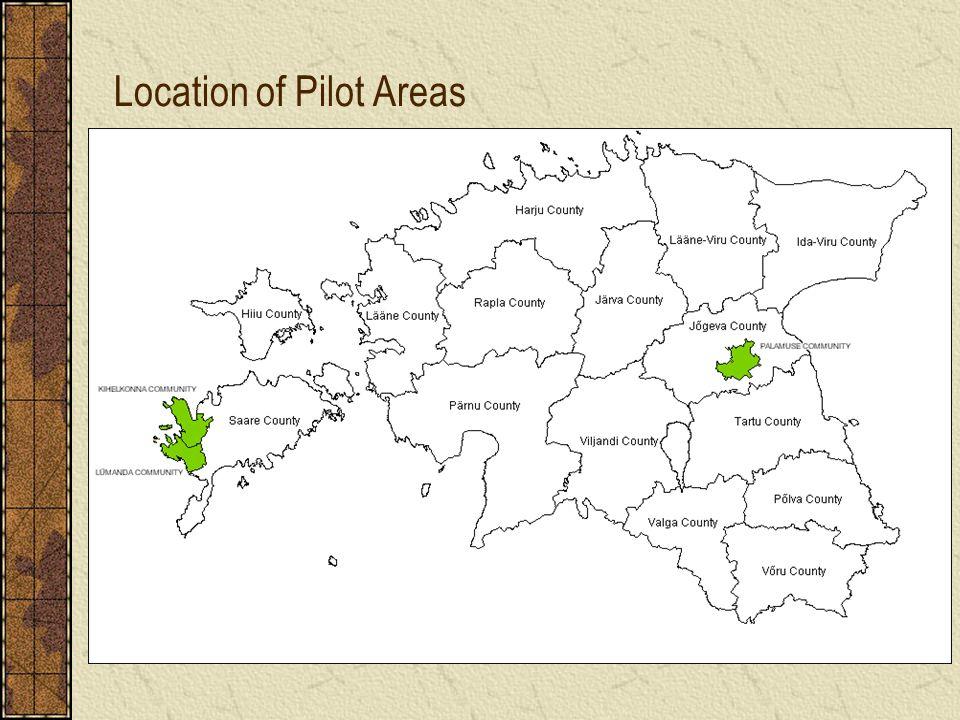 Location of Pilot Areas