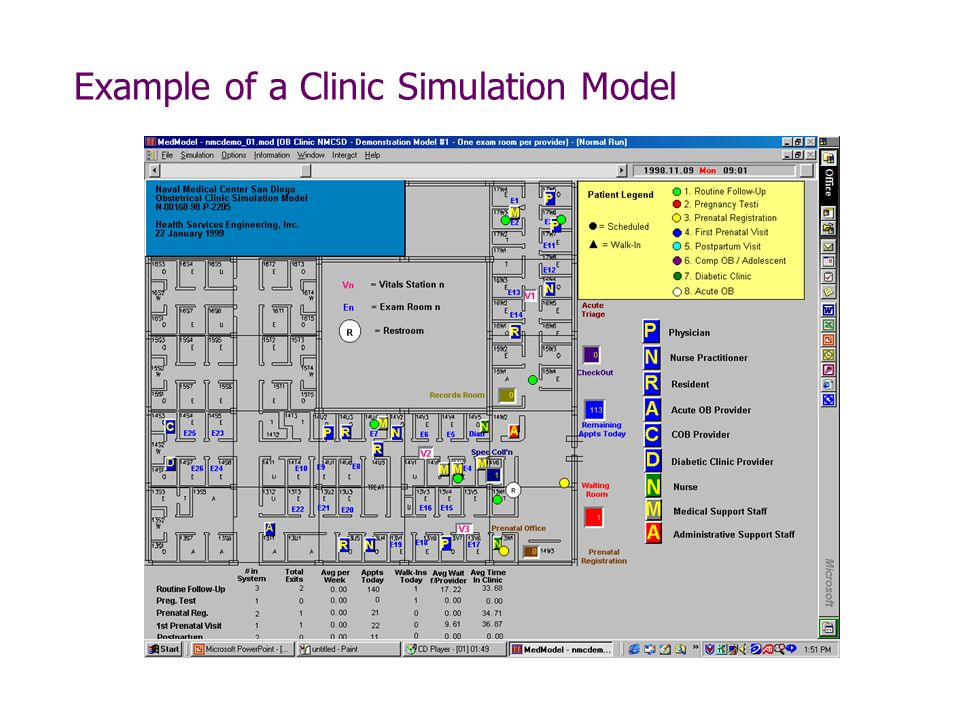 Example of a Clinic Simulation Model