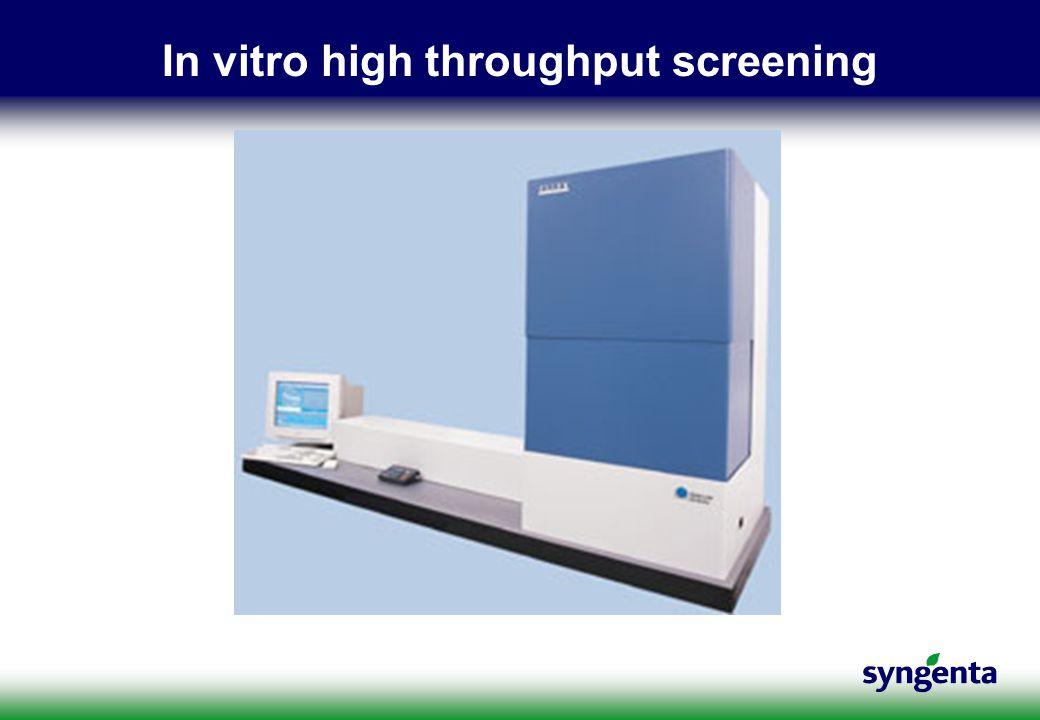 In vitro high throughput screening