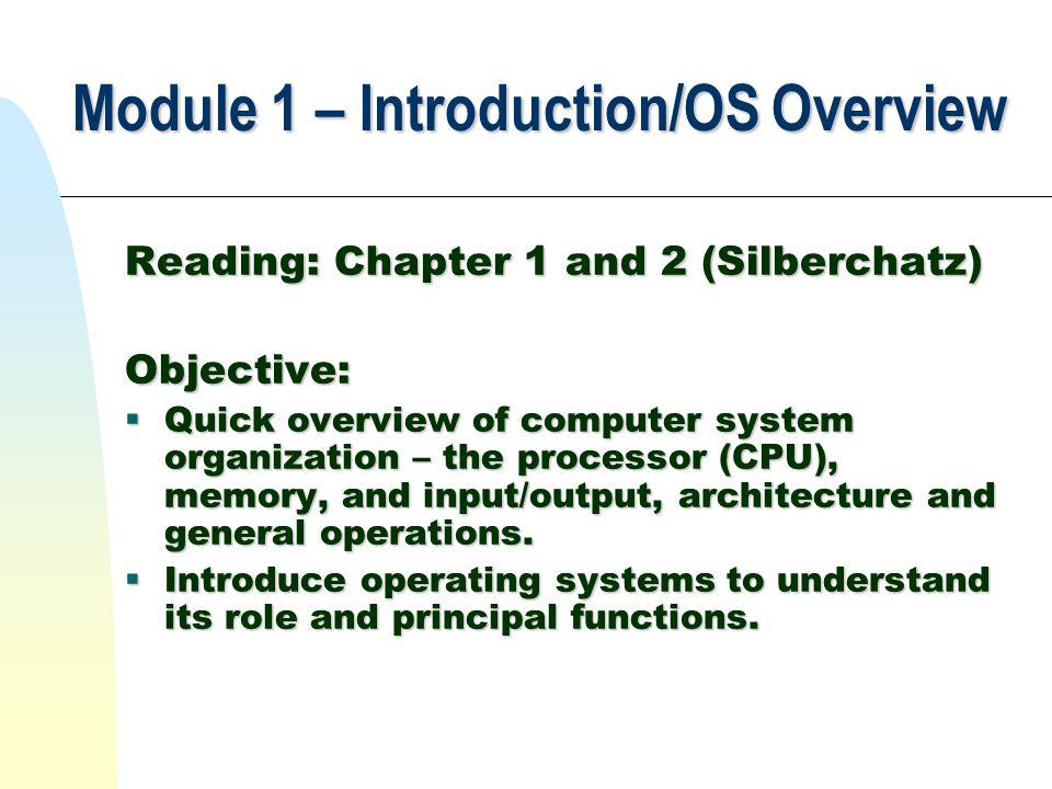Computer System Organization Operating System