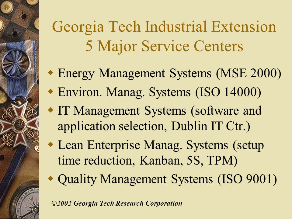 ©2002 Georgia Tech Research Corporation Quality Management CISQ (Center for Intern.