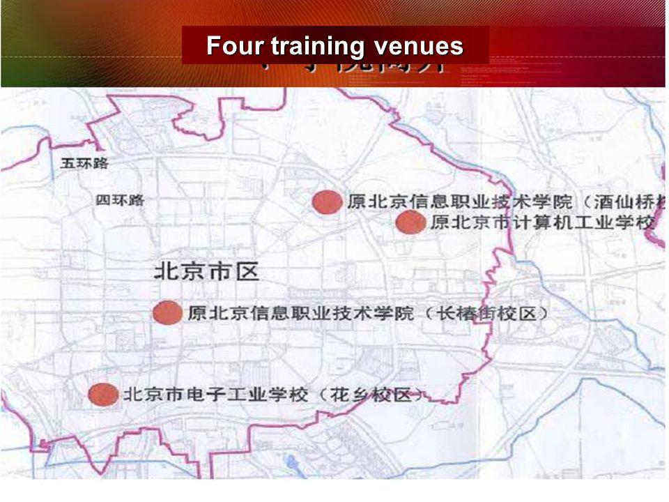 Four training venues
