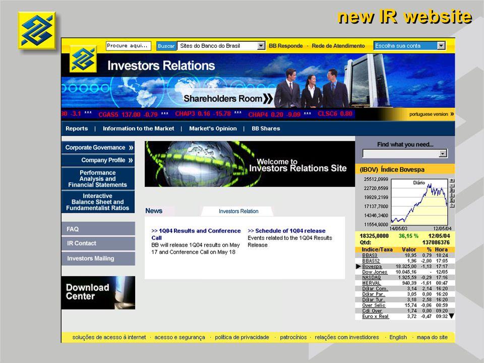 new IR website