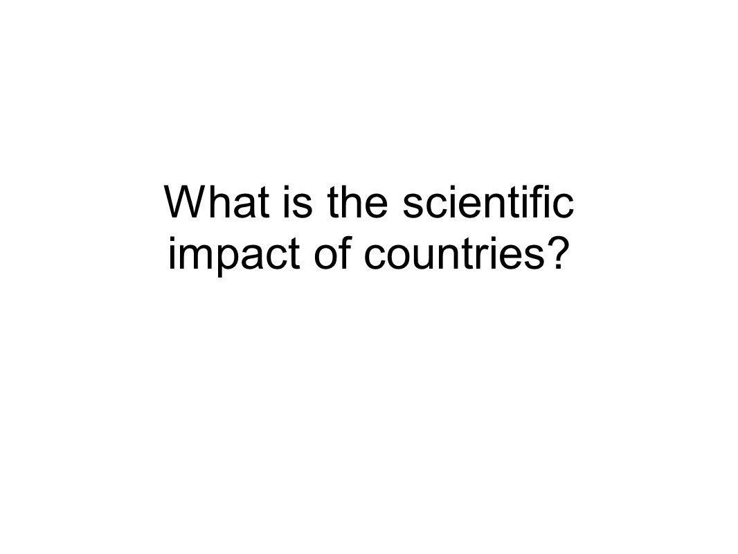 What is the scientific impact of countries