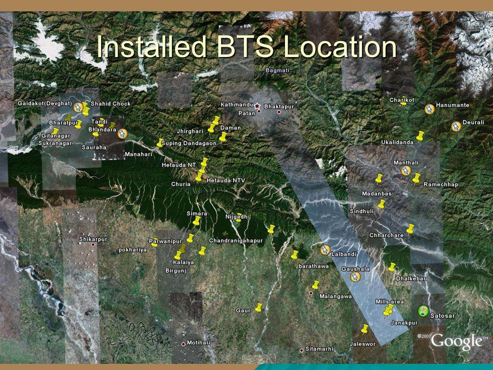 9 Installed BTS Location