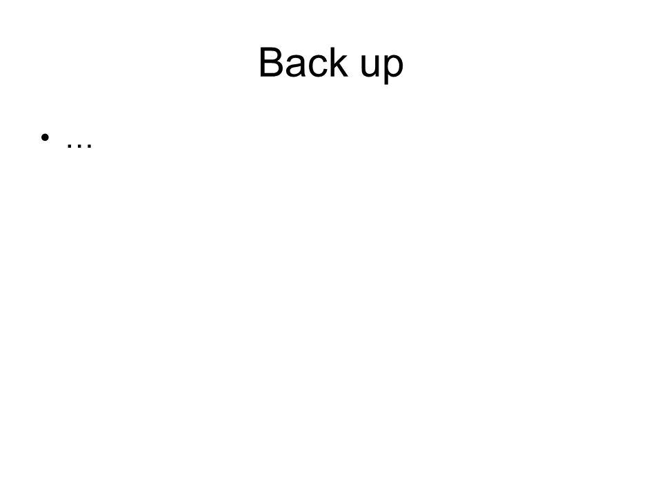 Back up …