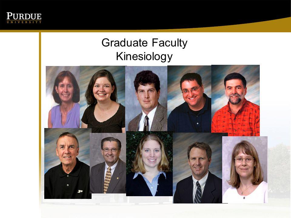 Graduate Faculty Kinesiology