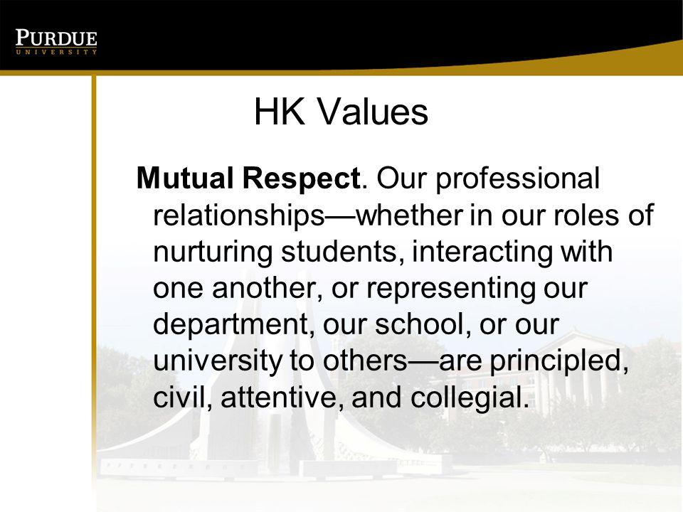 HK Values Mutual Respect.