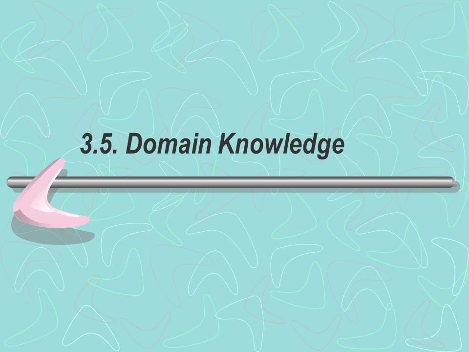 3.5. Domain Knowledge
