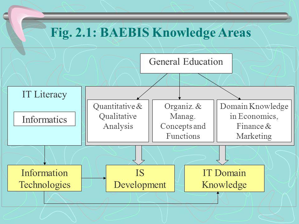 IT Literacy Informatics General Education Quantitative & Qualitative Analysis Organiz.