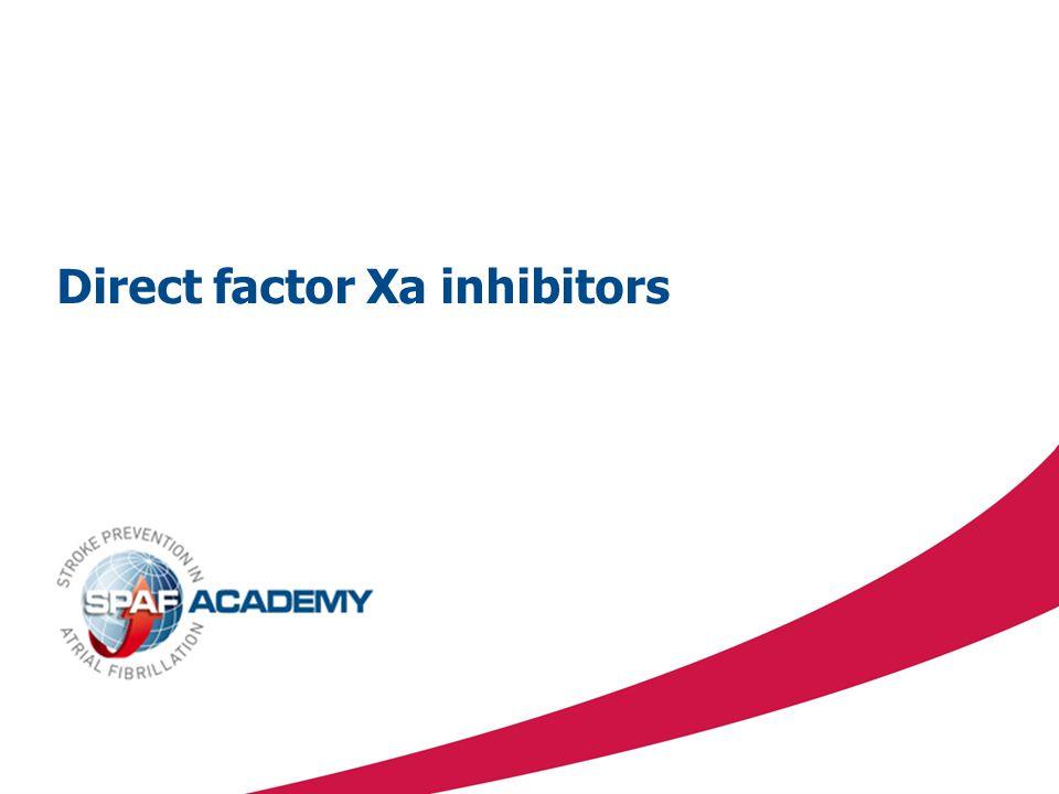 Direct factor Xa inhibitors
