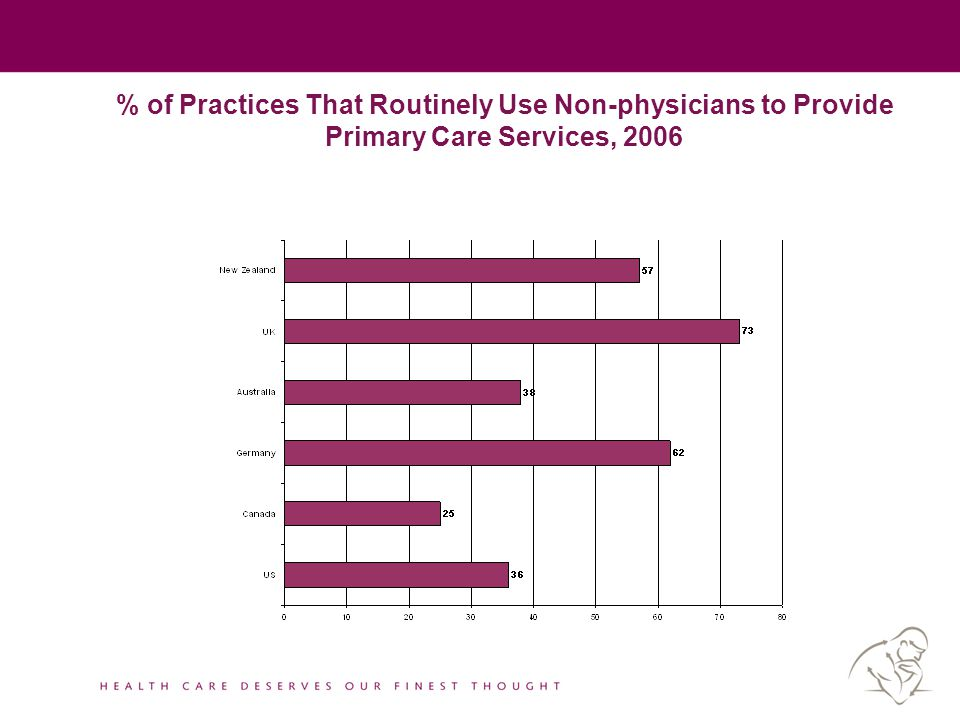 % of Practices That Routinely Use Non-physicians to Provide Primary Care Services, 2006