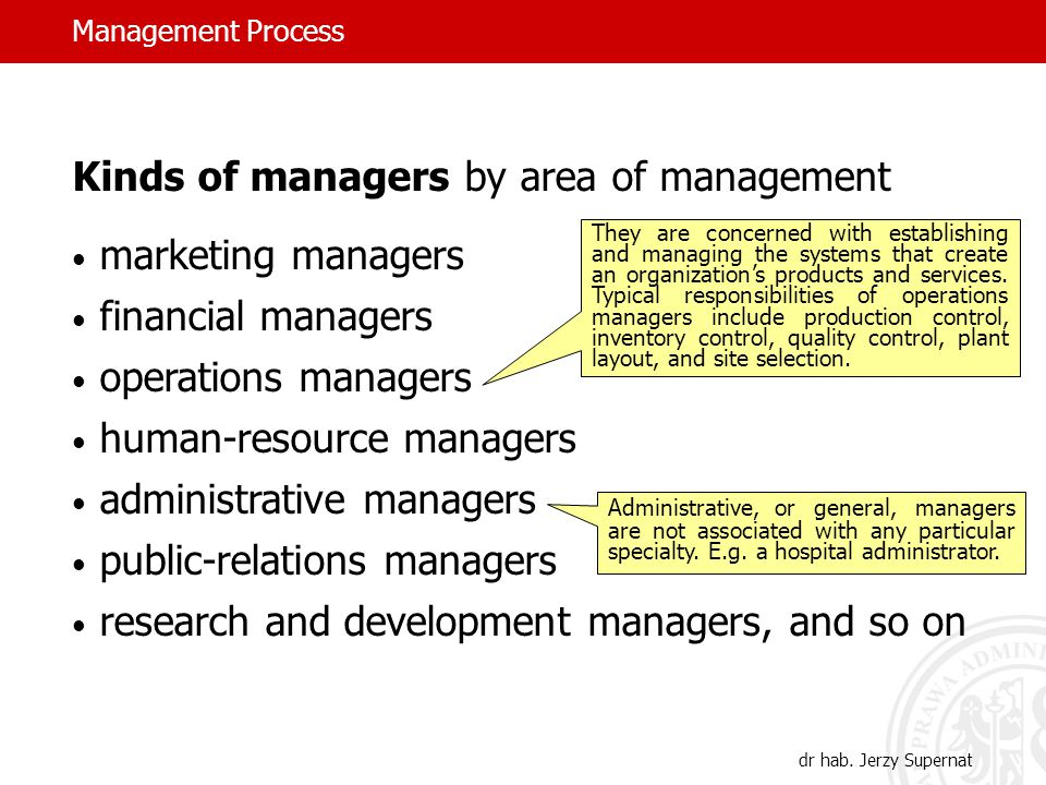 Management Process dr hab.