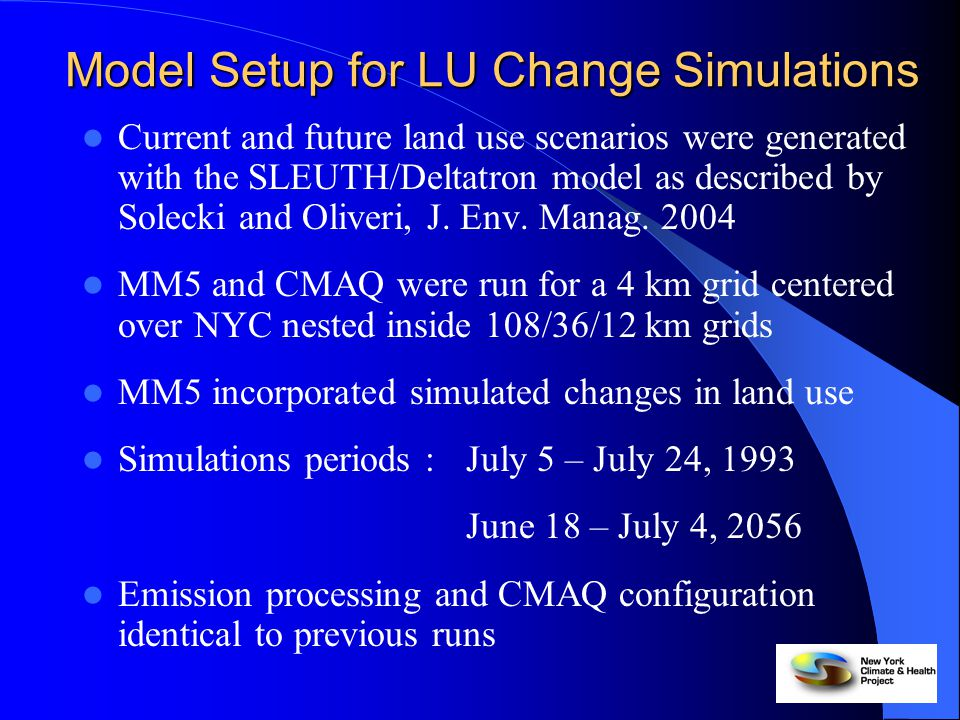 Overview Model Evaluation (from Hogrefe et al., Atmos.