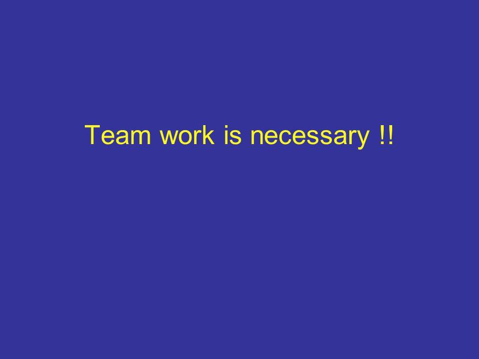 Team work is necessary !!