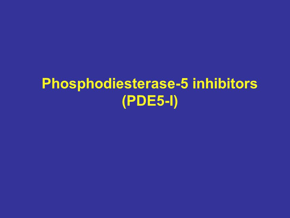 Phosphodiesterase-5 inhibitors (PDE5-I)