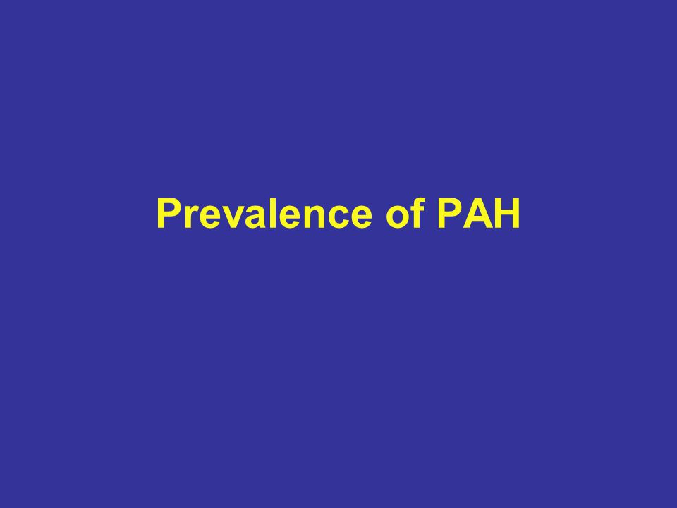 Prevalence of PAH