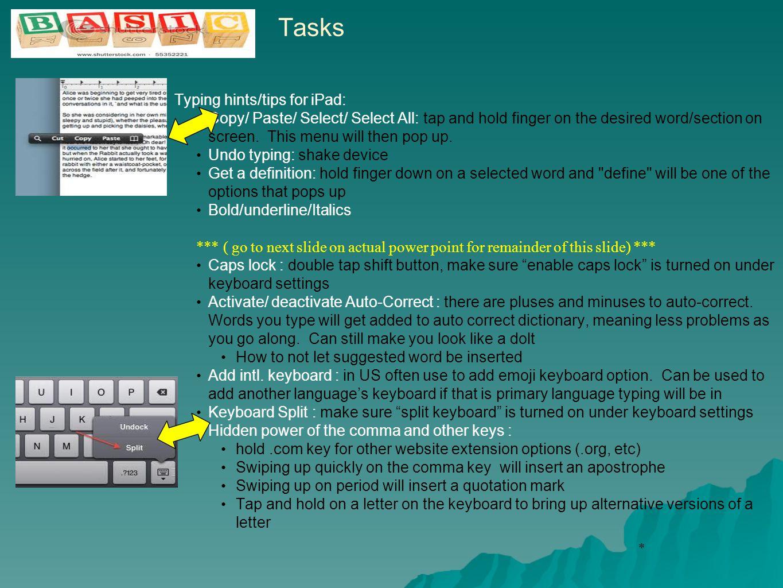 * Screenshots taken from personal iPad of Tammy Abbott-Thiel, LMSW