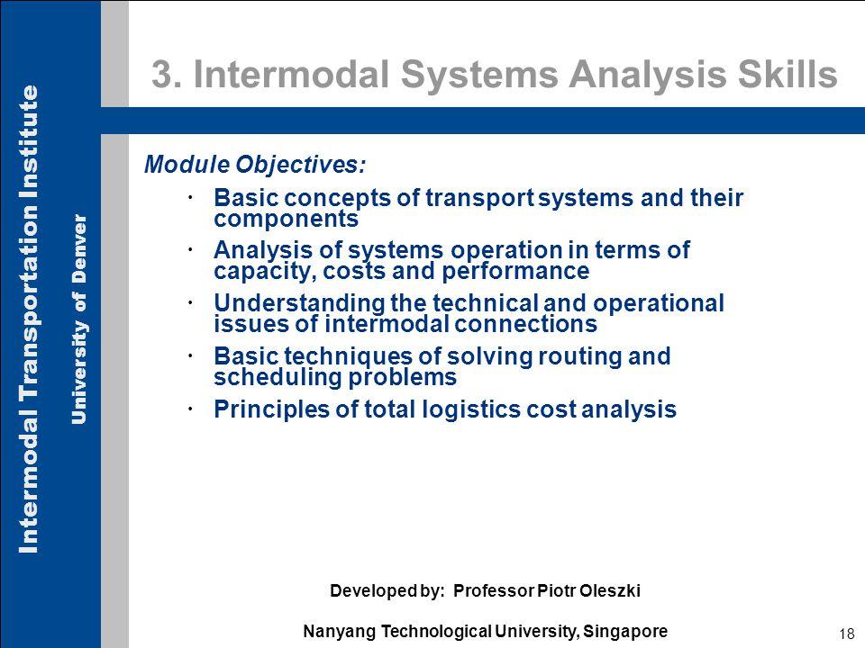 Intermodal Transportation Institute University of Denver 18 3.