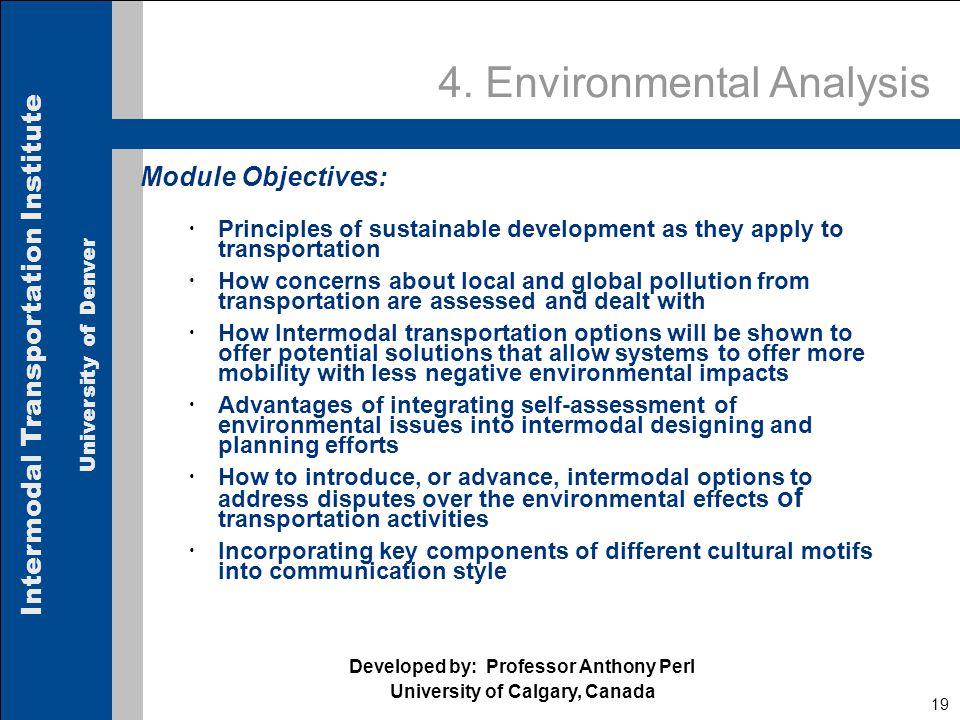 Intermodal Transportation Institute University of Denver 19 4.