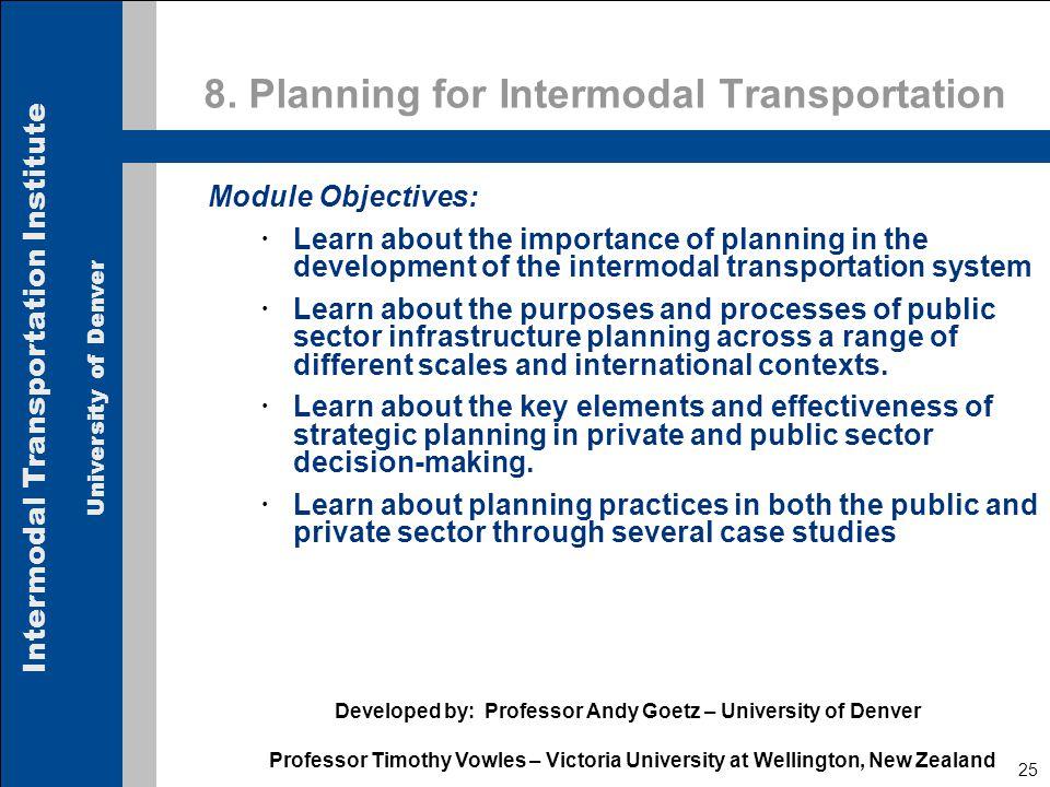 Intermodal Transportation Institute University of Denver 25 8.