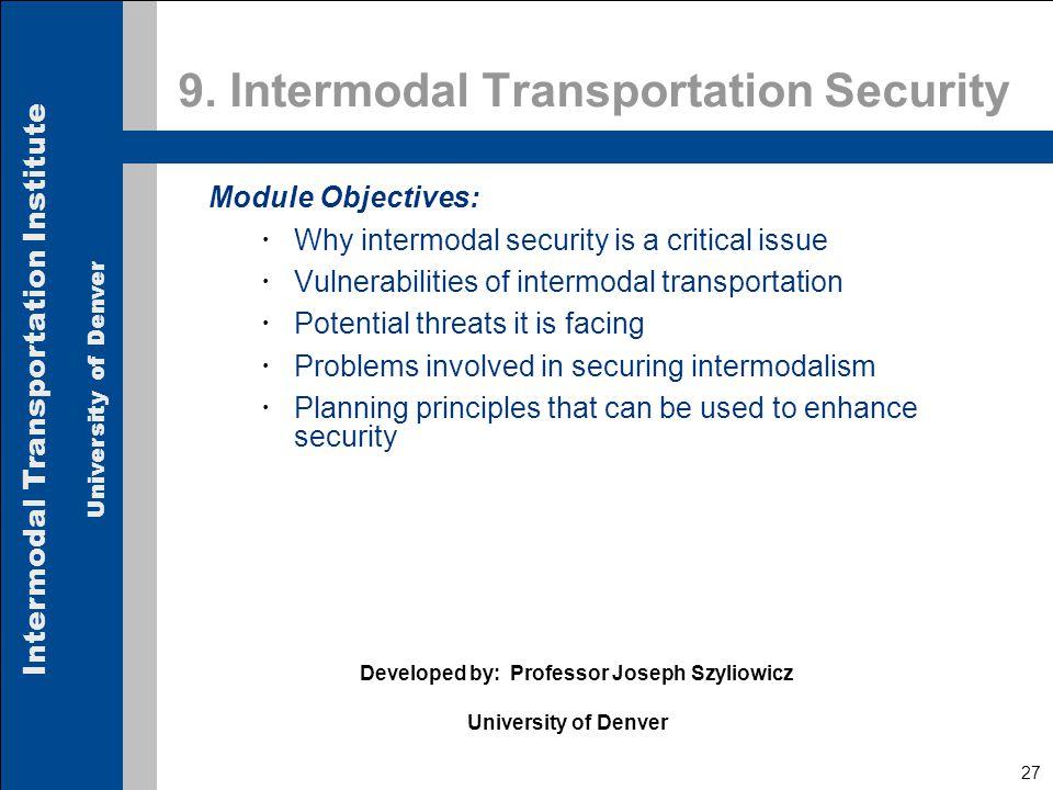 Intermodal Transportation Institute University of Denver 27 9.