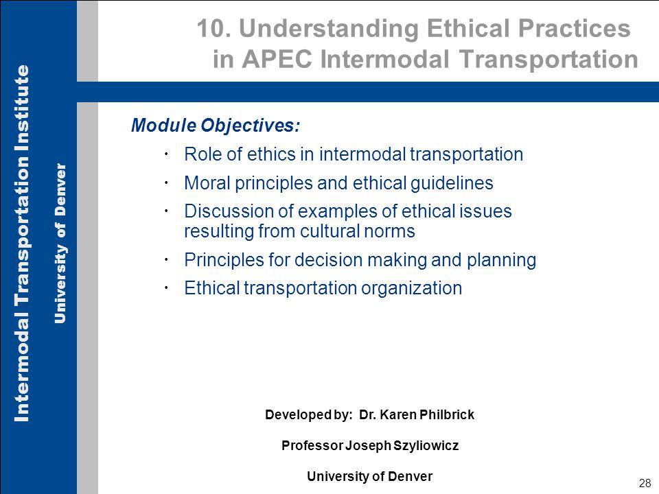 Intermodal Transportation Institute University of Denver 28 10.