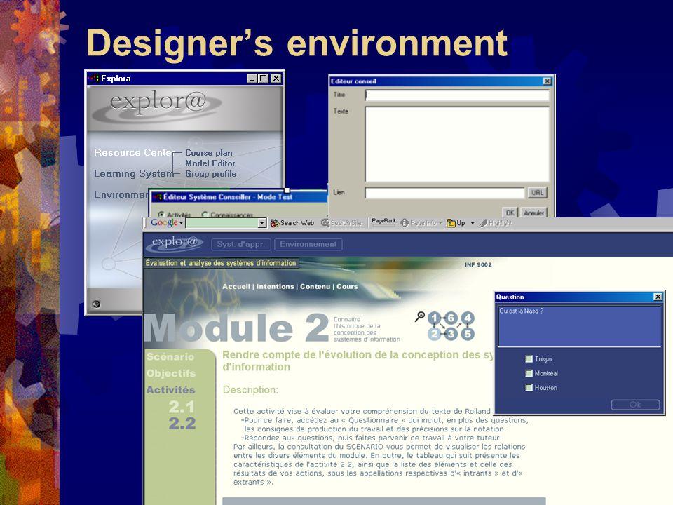 Designer's environment