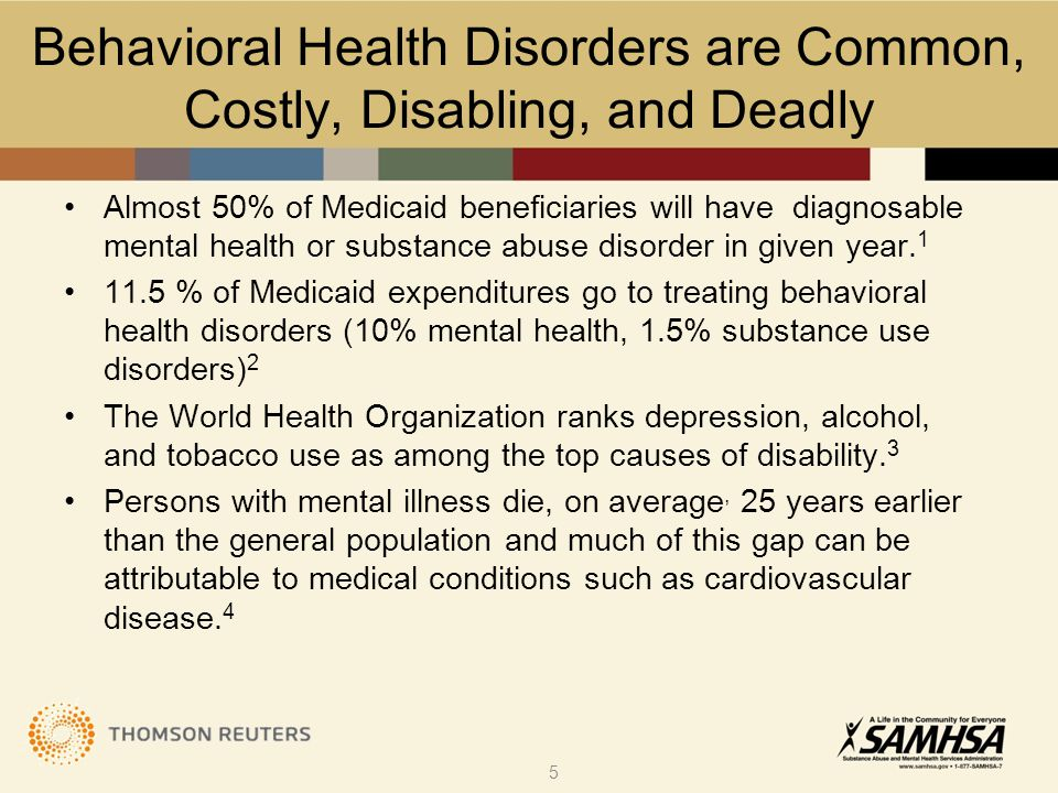 Outline Behavioral disorders are common, costly, disabling and deadly Behavioral and physical disorders commonly co-occur Reasons for co-occurrence are complex Co-occurrence leads to higher costs &worse outcomes  Currently US healthcare addresses co-occurrence poorly Research suggests integration improves outcomes Research suggests integration is cost effective 16