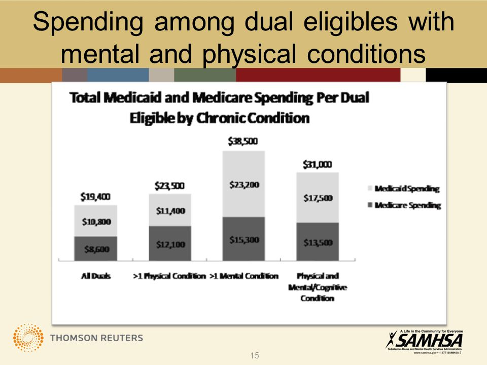 Spending among dual eligibles with mental and physical conditions 15