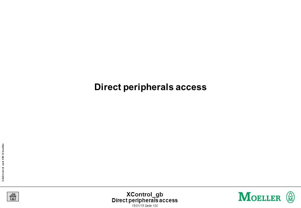 Schutzvermerk nach DIN 34 beachten 15/01/15 Seite 100 XControl_gb Direct peripherals access