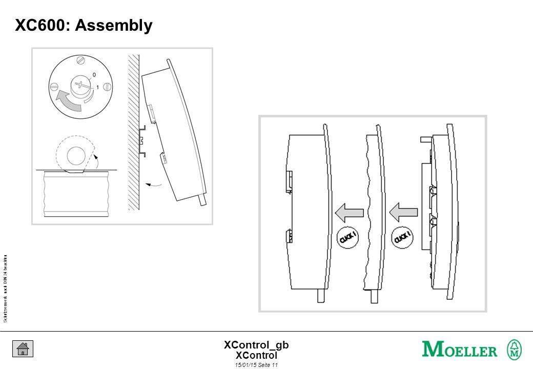 Schutzvermerk nach DIN 34 beachten 15/01/15 Seite 11 XControl_gb XC600: Assembly XControl