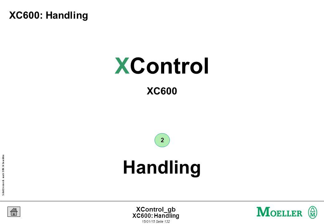 Schutzvermerk nach DIN 34 beachten 15/01/15 Seite 132 XControl_gb Handling 2 XControl XC600 XC600: Handling